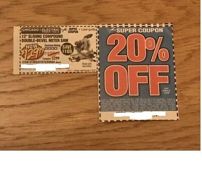 "Harbor Freight Coupons 12"" Sliding Compound Double-Bevel Miter Saw & a 20% Off"
