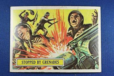 1965 Topps Battle Cards - #25 Stopped By Grenades - G/VG Condition