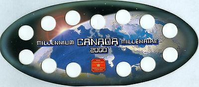 2000 Millennium Canada-Canadian Quarter holder Cardboard RCM Oval Board NEW