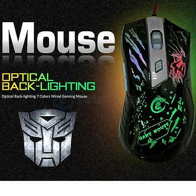 3200DPI 7 Color LED Optical 6D USB 2.0 Wired Gaming Mouse Gamer Mice for PC Mac