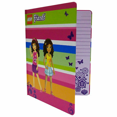 Lego Friends A5 Hardback Journal With Band (Pink/Green)