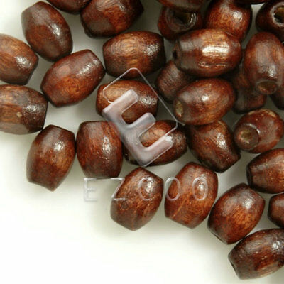 30g(200pcs About) Wood Spacer Beads Rice Brown 6x4mm Jewelry Making HCWB0063
