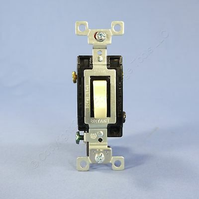 New Bryant Ivory 3-Way COMMERCIAL Grade Toggle Wall Light Switch 20A CSB320-BI