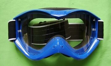 GOGPROBU - GOGGLES GP PRO DIXON Off Road Racing MotoX Speedwy BLUE New
