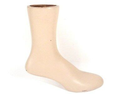"""Vintage 10 1/2"""" Tall Weighted Leg Foot Mannequin Display For Socks, Shoes..."""