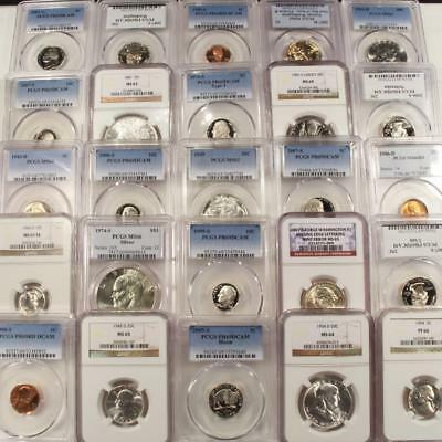 PCGS & NGC Graded Coin Collection 4 Coins With Guaranteed 2 Silver In Every Lot