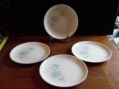 4 Vintage Ever Yours Boutonniere Bread Butter Plates Taylor Smith & Taylor