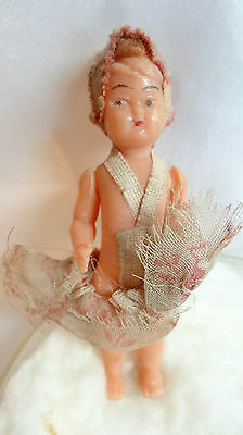 Italy Miniature Mini Celluloid Jointed Doll