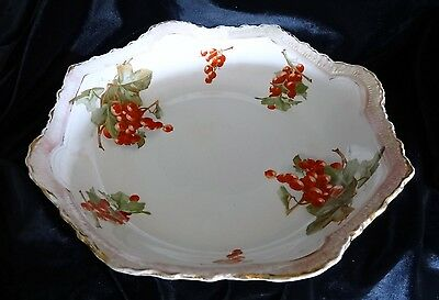 Imperial Multi-Color Porcelain Octagon Decorated Berries Bowl