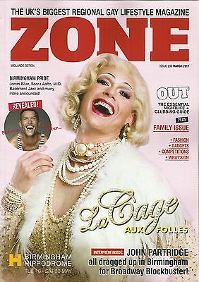 Midlands Zone - Gay Magazine - March 2017 (John Partridge Cover & Interview)