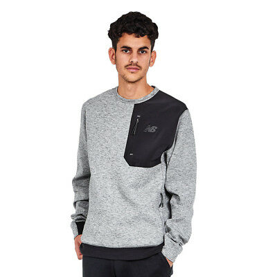 New Balance - 247 Luxe Crew Sweater Athletic Grey Pullover Rundhals