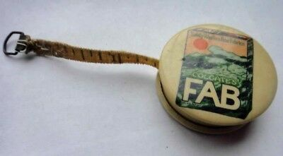 antique FAB LAUNDRY SOAP CELLULOID MINI TAPE MEASURE advertising colgate sewing