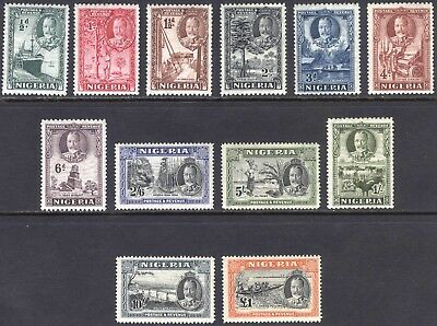 Nigeria 1936 1/2d-£1 GV Pictorial SG 34-45 Scott 38-49 LMM/MLH Cat £190($252)