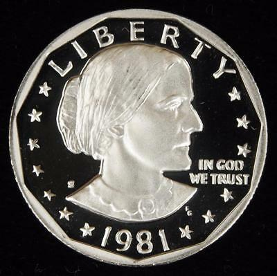 1981-S Type 2 GEM Proof Susan B. Anthony Dollar - Value @ CherrypickerCoins
