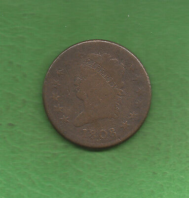 1808 Classic Head, Large Cent, First Year Of Series - 210 Years Old!!!
