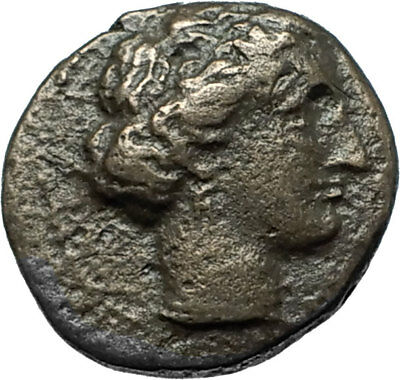 LARISSA Thessaly Genuine 360BC Authentic Ancient Greek Coin NYMPH & HORSE i66159