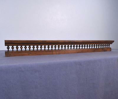 "*44"" Antique French Shelf/Plate Rail in Solid Chestnut Wood Salvage"