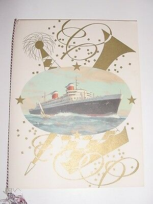 SS UNITED STATES LINES  August 11th.,1952 Lunch Menu  /  Top Condition