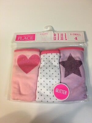😍NWT's Girls 3 Pack Of Panties 4T XS Childrens Place