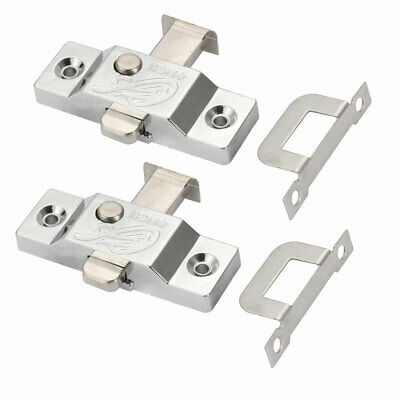 24mm Tongue Spring Bolt Latch Door Window Lock w Right Angle Plate 2pcs