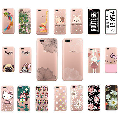 Soft Fashion Patterned TPU Skin Silicone Case Cover For OPPO R9S 11S Plus
