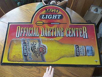 MGD Miller Genuine Draft Light Beer Official Darting Center bar advertising sign