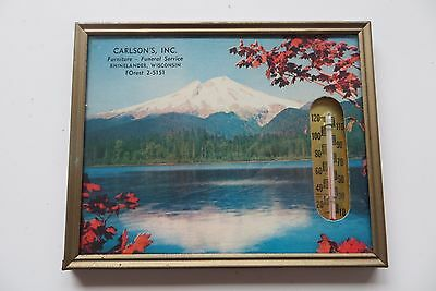 Carlson's Inc.Furniture-Funeral Service, Rhinelander Wisconsin vtg thermometer
