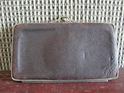 Vintage clutch purse, leather, old, wallet