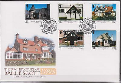 GB - ISLE of MAN 2001 The Architecture of Baillie Scott SG 953/7 FDC BUILDINGS