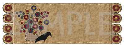 Penny Rug w/Penny Rug Flowers Address Labels Custom Personalized Laser Printed