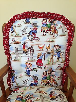 Lil Cows High Chair Pads Child S Rocking Cushions Western Horses