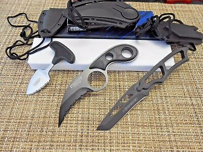 Lot of 3 Assorted Fixed Blade Neck Knives EDC Tactical  Defender