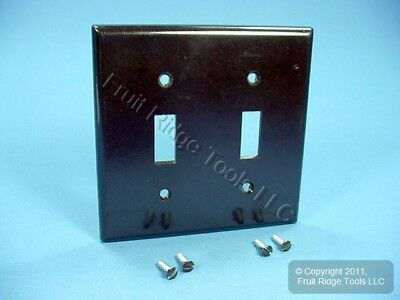 Leviton Brown 2-Gang Toggle Switch Plastic Cover Wall Plate Switchplate 85009