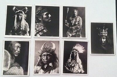 7 1950's Native American Indian Chief Black and White Photos