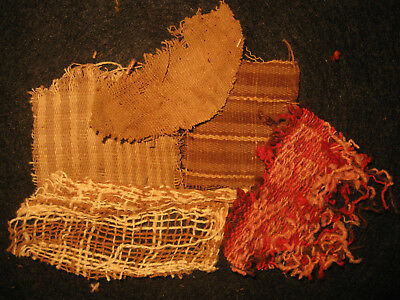 Authentic Pre Columbian Inca Chancay Fabric Textiles, 500 Year Old Cloth, #2-D