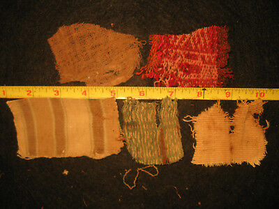 Authentic Pre Columbian Inca Chancay Fabric Textiles, 500 Year Old Cloth, #2-G