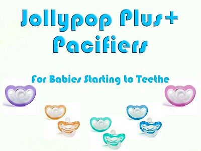 JollyPop Pacifier Plus+ Pick Your Color Baby Soothie Gumdrop Silicone  3+ mo