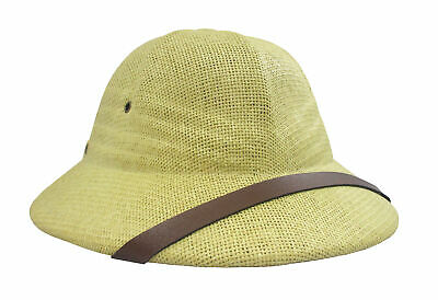 British Pith Helmet Safari Jungle Explorer Hunter African Professor Costume Hat