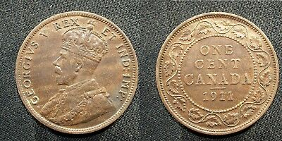 1911 Canada Large Cent - Solid  FINE   stk#2h59