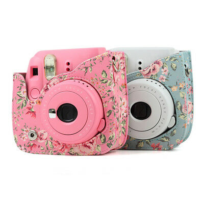 Floral Leather Camera Shoulder Bag Case Cover For Fujifilm Instax Mini 8/8+/9