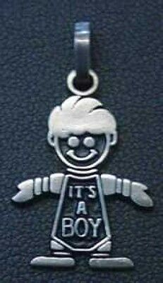 LOOK Charm Baby Pendant its a boy Silver gifts Jewelry Love