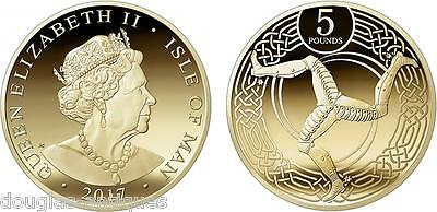 Isle Of Man £5 Five Pound Coin Issued April 2017 Unc From Tower Mint- In Hand