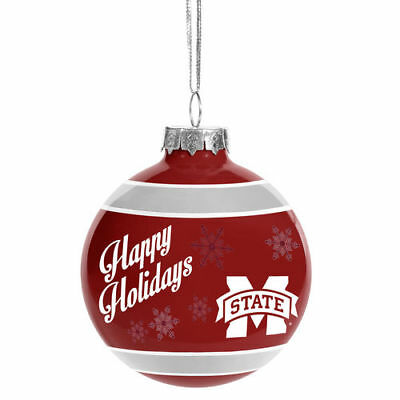 Mississippi State Bulldogs Forever Collectibles 2016 Ball Ornament Christmas