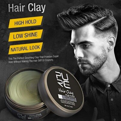 Strong Hold Matte Finish Men Low Shine Hair Clay Hair Styling Wax Barber Pomade
