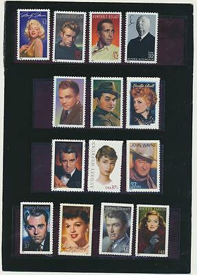 Legends of Hollywood Collection of 14 Mint NH USA Commemoratives @ Face Value