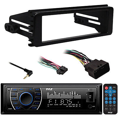 98-2013 In Dash FLHTC Harley Adapter, Enrock Marine AM FM AUX SD Marine Radio