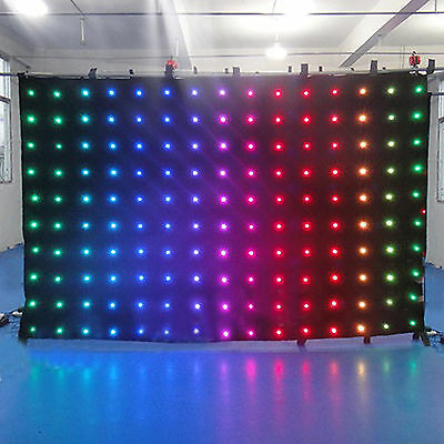Sound Activated DMX512 LED Video Curtain Screen Stage Wedding DJ Mobile Backdrop