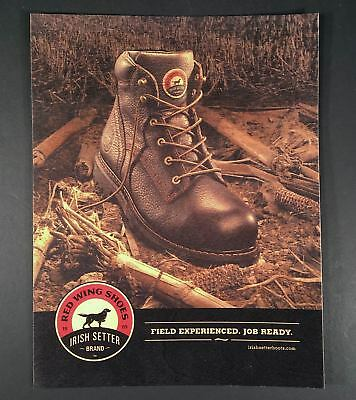 Red Wing Irish Setter Shoes Boots Store Sign Display Printed on Thin Wood!
