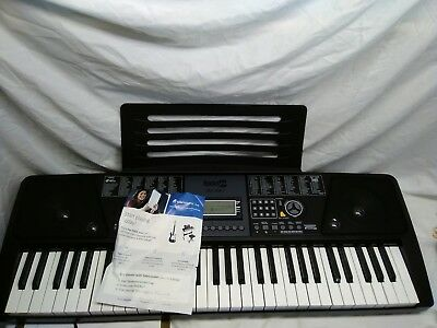 RockJam 61-Key Electronic Keyboard SuperKit W/ Stand, Stool, Headphones & Cord