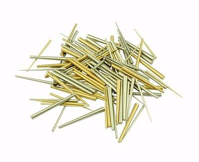 Assorted Pack of 100 Brass and Steel Tapered Pins Clock Repairs Parts X1159
